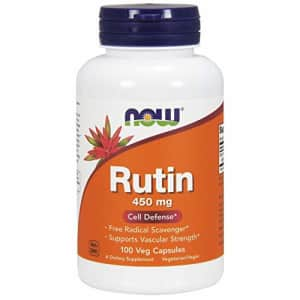 Now Foods NOW Supplements, Rutin (Sophora japonica) 450 mg, Free Radical Scavenger*, Cell Defense*, 100 Veg for $13
