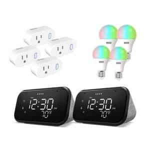 Lenovo Smart Clock 2-Pack and Smart Plug/Bulb 4-Pack for $125