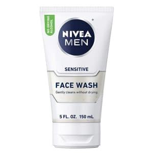 Nivea Men Sensitive Face Wash for $5