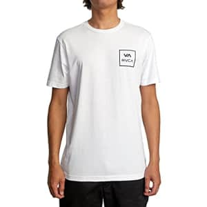 RVCA Men's Graphic Short Sleeve Crew Neck Tee Shirt, VA All The Way/White, Large for $24