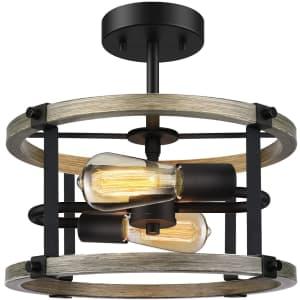 Wihtu 2-Light Semi Flush Mount Ceiling Light Fixture for $50