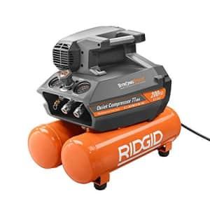 RIDGID 200 psi 4.5 Gal. Electric Quiet Compressor (Orange) for $405