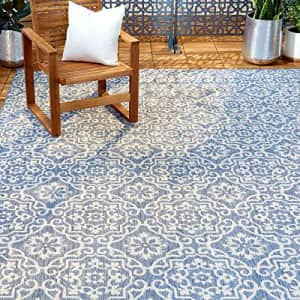 """Home Dynamix Patio Country Danica Area Rug, 5'2""""x7'2"""", Blue/Gray for $51"""