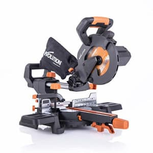 """Evolution Power Tools R185SMS+ 7-1/4"""" Multi-Material Compound Sliding Miter Saw Plus for $156"""