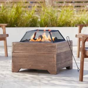 "John Timberland Lighting La Selva 24"" Square Wood Burning Outdoor Fire Pit for $170"