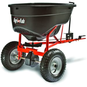 Agri-Fab 130-lb. Tow Behind Broadcast Spreader for $179