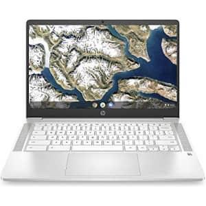 "2020 HP Chromebook 14"" HD Thin and Light Laptop, Intel Celeron N4000 Dual-Core Processor, 4GB RAM, for $250"