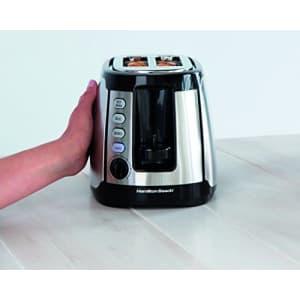 Hamilton Beach Keep Warm 2 Slice Toaster, Silver with Black (22811) for $52