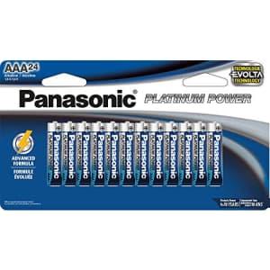 Panasonic Energy Corporation LR03XE/24B Platinum Power AAA Alkaline Batteries, Pack of 24 for $67