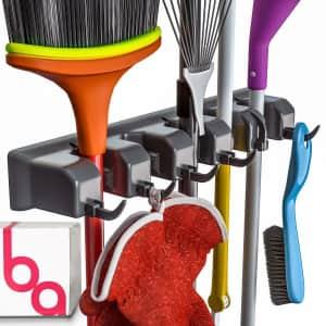 Berry Ave Broom Holder / Garden Tool Organizer for $9