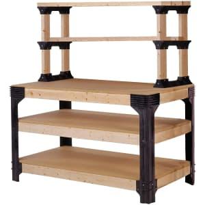 2x4basics Custom Workbench Kit w/ ShelfLinks System for $62