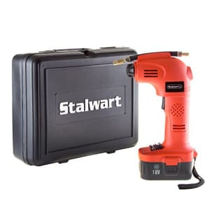 Stalwart 75-PT1001 Air Compressor Portable Tire Inflator Rechargeable Handheld Emergency PSI/BAR for $87