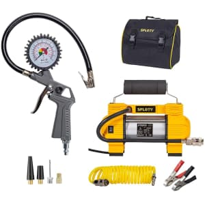 Sploty Tire Inflator with Pressure Gauge for $54