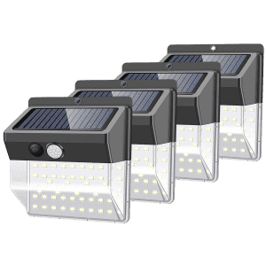 Hakol 136-LED Motion-Activated Waterproof Lights 4-Pack for $39