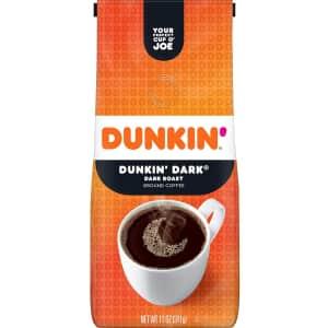 Dunkin Donuts Dunkin' Dark Roast Ground Coffee 11-oz. Bag for $3.67 via Sub & Save