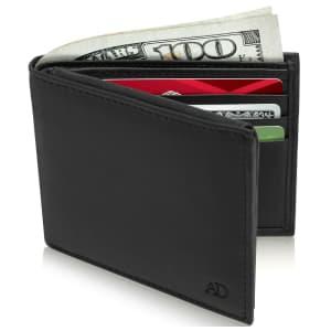 Access Denied RFID Slim Bifold Wallet for $10