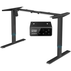 MAIDeSITe Adjustable Electric Standing Desk Frame for $130