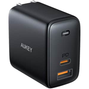 Aukey Omnia 65W 2-Port USB-C Fast Charger for $25