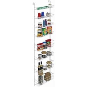 ClosetMaid Adjustable 8-Tier Wall and Door Rack for $40