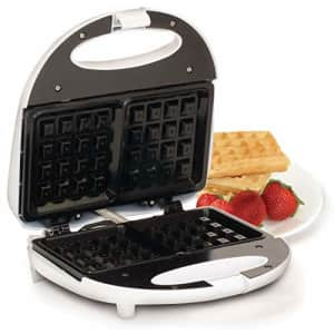 Elite Gourmet Electric 3-in-1 Nonstick 1-Inch Thick Belgian Waffle & Grill/Sandwich Maker, for $49