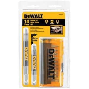 DeWalt 14-Piece Drive Guide Bit Set for $6.99 for members