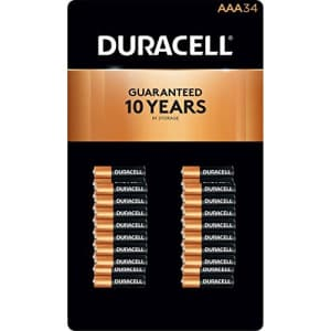 Duracell Coppertop Alkaline AAA Batteries - 34 pk for $30