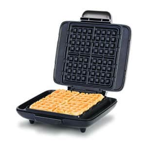 DASH DNMWM455SL NO- DRIP waffle maker, 1200 Watt, Silver for $49