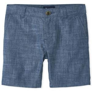 The Children's Place Boys' Chambray Shorts, FEDERALBLU, 14 for $16
