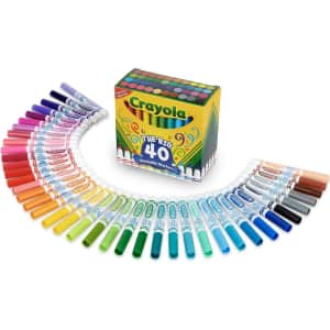 Crayola Ultra Clean Washable Markers 40-Pack for $13