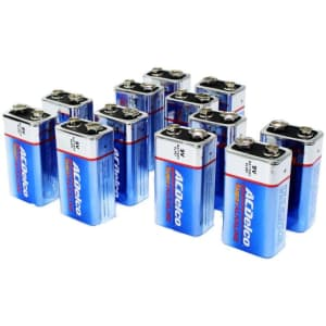 ACDelco 9-Volt Batteries 12-Pack for $16