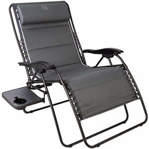 Timber Ridge Zero Gravity Chair Oversized Recliner 600lbs Capacity Patio Lounge Chair Padded Lawn for $140