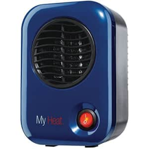 """Lasko Heating Space Heater, 3.8"""" x 4.3"""" x 6.1"""" tall, Blue for $23"""