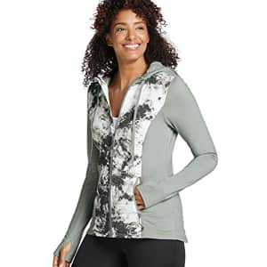 Jockey Women's Activewear Hooded Tech Jacket, Smoke Grey, m for $20