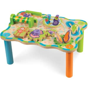Melissa & Doug First Play Children's Jungle Wooden Activity Table for $28