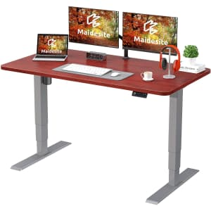 Maidesite Height Adjustable Electric Standing Desk for $211