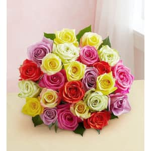 Two Dozen Assorted Roses at 1-800-Flowers: for $30