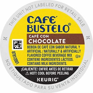 Cafe Bustelo Caf Bustelo Caf Con Chocolate Flavored Espresso Style Coffee, K Cups for Keurig Coffee Makers, 10 for $62