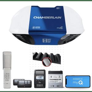 Chamberlain Smartphone-Controlled Belt Drive Garage Door Opener System for $248