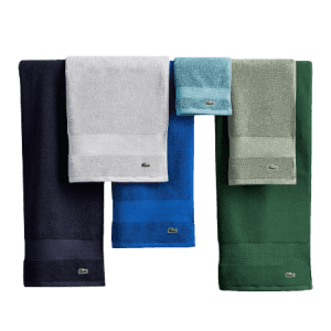 Lacoste Heritage Anti-Microbial Cotton Towels & Washcloths from $6