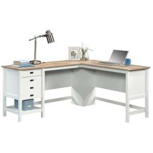 """Sauder Cottage Road 65"""" L-Shaped Desk for $279"""