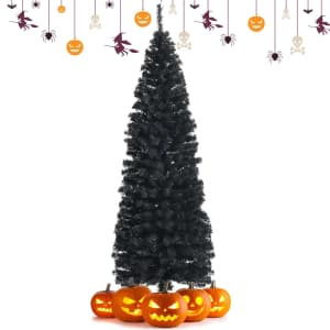 Costway 6-Ft. Artificial Unlit Pencil Tree w/ Stand for $45