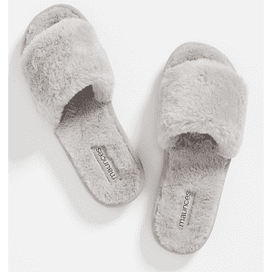 Maurices Women's Sabrina Faux Fur Slippers for $12