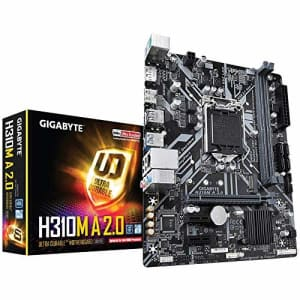 GIGABYTE H310M A 2.0 (LGA1151/ Intel/ H310/ Micro ATX/ DDR4/ HDMI 1.4/ M.2/ Motherboard) for $69