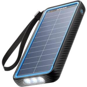 Anker PowerCore 10,000mAh Portable Solar Power Bank for $40