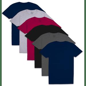 Fruit of the Loom Men's Pocket T-Shirt 6-Pack for $19