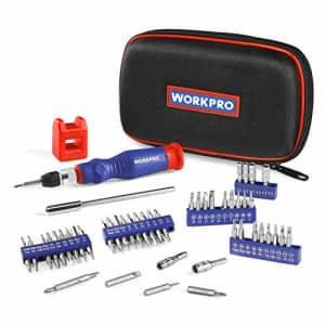 WORKPRO Precision Screwdriver Kit 69-piece with Quick Load Screwdriver Bits Holder Handle for for $25