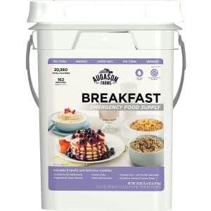 Augason Breakfast Emergency Food Supply 4-Gallon Pail for $55