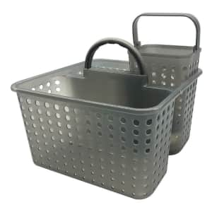 The Big One Plastic Shower Caddy for $6