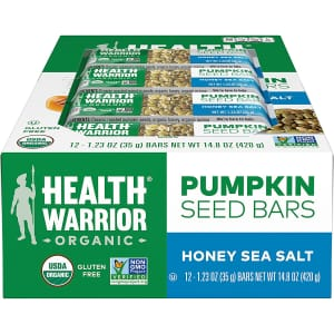 Health Warrior Pumpkin Seed Protein Bar 12-Pack for $10 in cart w/ Prime