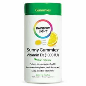 Rainbow Light Sunny Gummies, Vitamin D3 1,000 IU, Gluten Free, Lemon Flavored, 100 Gummies for $20
